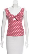 McQ Sleeveless Polka Dot Top