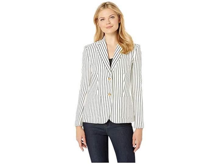Lauren Ralph Lauren Striped Pique Blazer