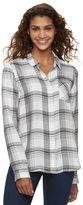 Juniors' SO® Twill Button Down Shirt