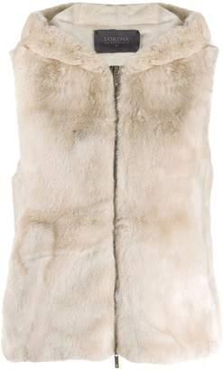 Lorena Antoniazzi faux fur hooded vest