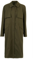 Topshop Military Trench Coat By Boutique