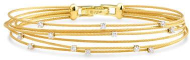 Paul Morelli Seven-Strand Cable Wire Bracelet with Diamonds