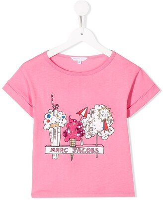 Little Marc Jacobs logo graphic print T-shirt
