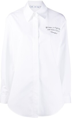 Off-White Embroidered Shirt