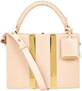 Sophie Hulme Mini Python Albany Suitcase Shoulder Bag