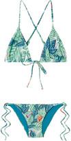 Mara Hoffman Printed Triangle Bikini - Green