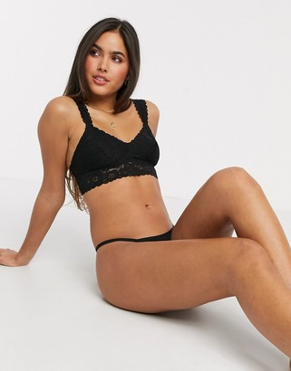 aerie softest bralette in black