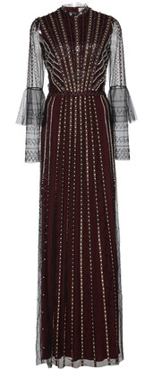 Temperley London Queenie Bead-Embellished Tulle Gown