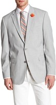 Tommy Hilfiger Ethan Grey Plaid Woven Two Button Notch Lapel Sportcoat