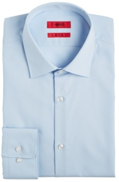 HUGO BOSS Men's Slim-Fit Light Blue Solid Dress Shirt