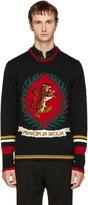 Dolce & Gabbana Black Tiger Sweater