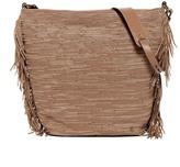 Elliott Lucca Marin Woven Leather Fringe Hobo Bag