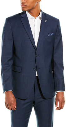 Original Penguin 2Pc Slim Fit Wool-Blend Suit With Flat Pant