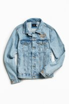 Urban Outfitters Embroidered Denim Trucker Jacket