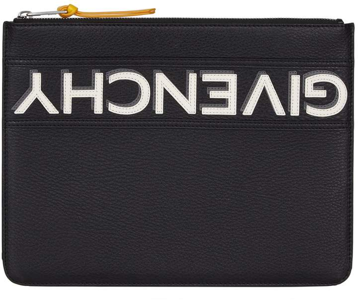Givenchy Leather Reverse Logo Pouch