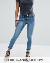 Noisy May Petite Lucy Raw Hem Jeans