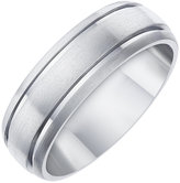 Ernest Jones 7MM Titanium Matt and Polished Groove Band