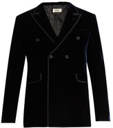 Saint Laurent Double-breasted velvet blazer