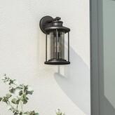 "575 Denim Emery Outdoor Wall Lantern Gracie Oaks Finish: Oil Rubbed Bronze, Size: 11"" H x W x 6.75"" D"