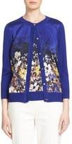 St. John Women's Floral Print Silk Blend Cardigan