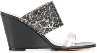 Maryam Nassir Zadeh Lace Print Wedge Sandal
