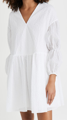 Edit Tiered Sleeve Peplum Dress