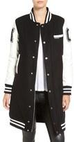 Members Only Women's Long Varsity Bomber Jacket