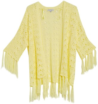 FAVLUX Tassel Trim Knit Kimono