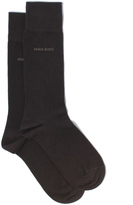 Boss Two Pack Brown Cotton Socks
