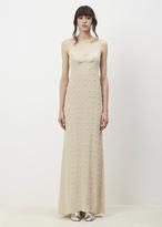 Dries Van Noten ecru deming embroidered dress
