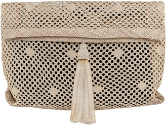 Johanna Ortiz Bay Of Bengal Palm Of Iraca Oversized Clutch