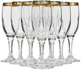 One Kings Lane Vintage 1970s Gilt-Rim Champagne Flutes