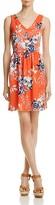 Aqua Floral V-Neck Fit-and-Flare Dress - 100% Exclusive