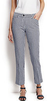 Classic Women's Petite Mid Rise Seersucker Crop Pants-Midnight Gingham