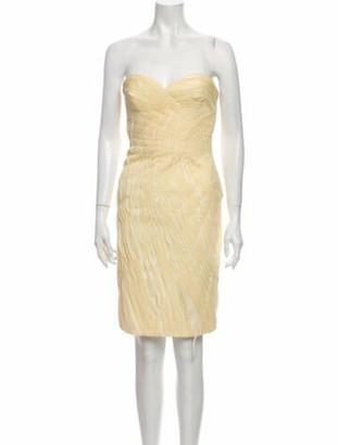 Carmen Marc Valvo Silk Knee-Length Dress