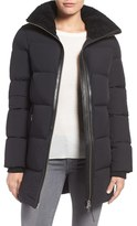 Mackage Women's Water Resistant Down Coat With Genuine Shearling Trim