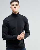 French Connection Jersey Roll Neck Long Sleeve T-Shirt