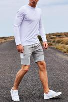 Boohoo Long Sleeve Muscle Fit T Shirt With MAN Logo
