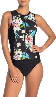 Next Tropicana Zip One-Piece Swimsuit