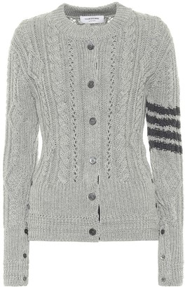 Thom Browne Cable-knit merino wool cardigan