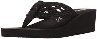 Rocket Dog Women's Aviara Stapleton Cotton Rope Wedge Flip Flop