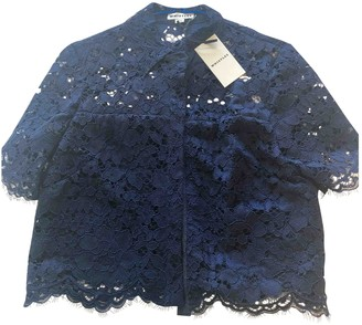 Whistles Navy Lace Top for Women