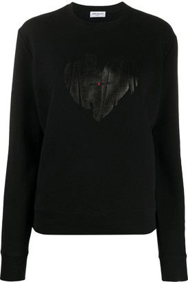 Saint Laurent Heart printed sweatshirt