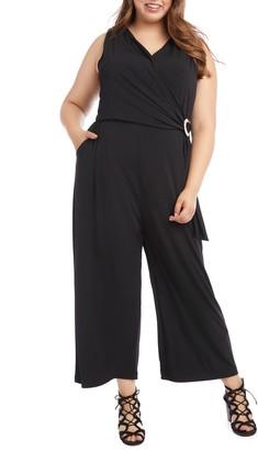 Karen Kane Wrap Front Sleeveless Jumpsuit
