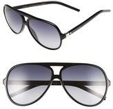 Marc Jacobs Women's 60Mm Aviator Sunglasses - Black