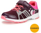Clarks Junior Girls Gloforms Reflect Glo Training Shoes Width Sizes Available