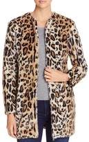 Cupcakes And Cashmere Elvina Leopard Print Faux Fur Jacket