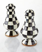 Mackenzie Childs MacKenzie-Childs Courtly Check Enamel Large Salt & Pepper Shakers