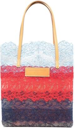 Ermanno Scervino Colour-Block Lace Tote