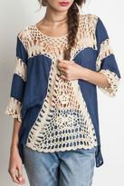 Umgee USA Fall Crochet Top